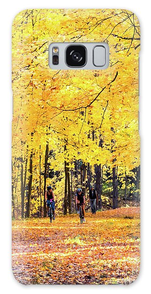 Autumn Glory On The Rail Trail Galaxy Case