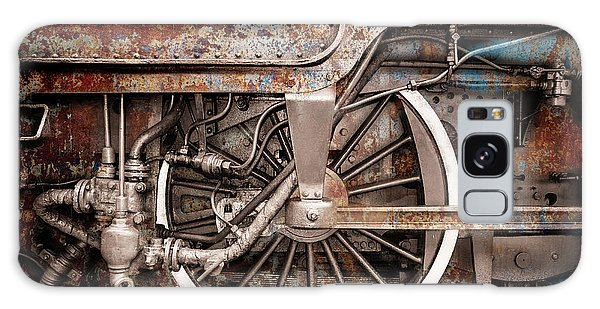 Rail Wheel Grunge Detail,  Steam Locomotive 06 Galaxy Case