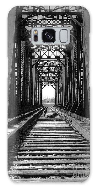 Railroad Bridge Black And White Galaxy Case