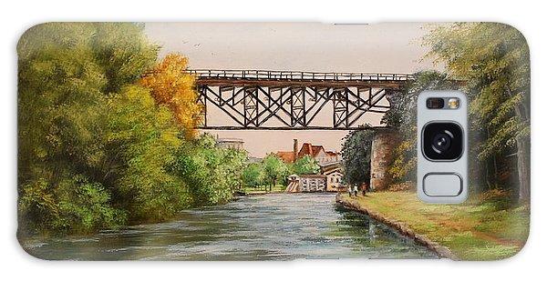 Railroad Bridge Over Erie Canal Galaxy Case