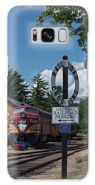 Railroad Crossing Galaxy Case by Suzanne Gaff
