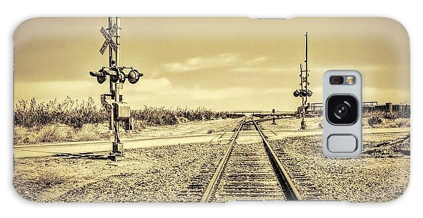 Railroad Crossing Textured Galaxy Case