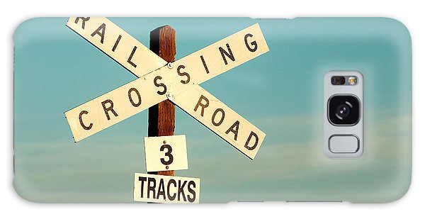 Old Road Galaxy Case - Railroad Crossing by Todd Klassy