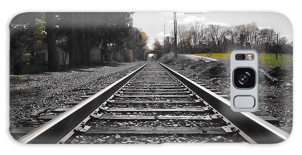 Railroad Tracks Bw Galaxy Case