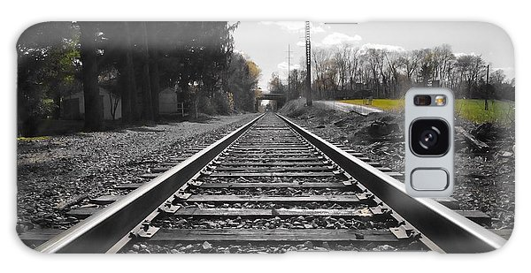 Railroad Tracks Bw Galaxy Case