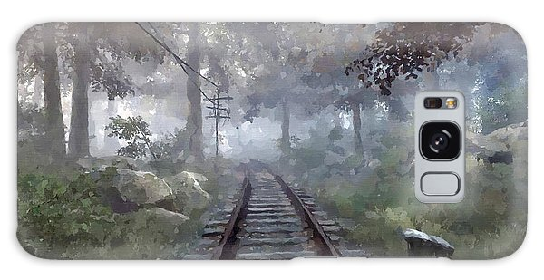 Rails To A Forgotten Place Galaxy Case