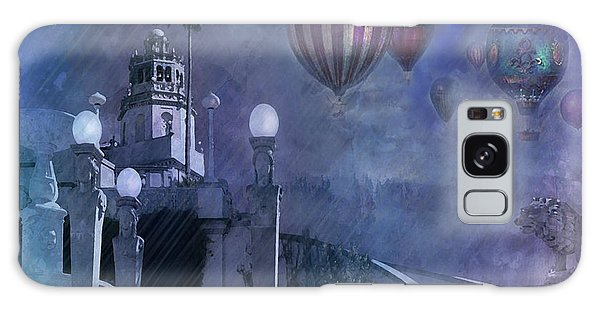 Rain And Balloons At Hearst Castle Galaxy Case
