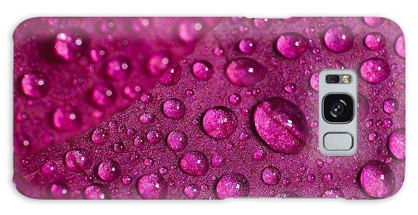 Rain And Bougainvillea Petals Galaxy Case by Angelo DeVal