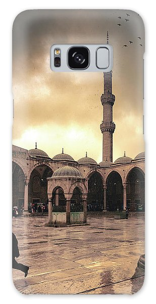 Rain At The Blue Mosque Galaxy Case