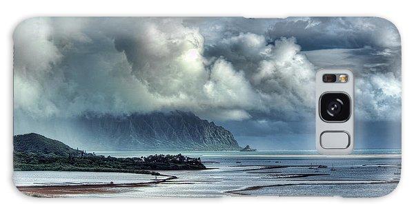 Rain Clearing Kaneohe Bay Galaxy Case