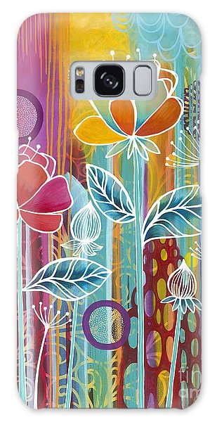Galaxy Case featuring the painting Raindrops  by Carla Bank