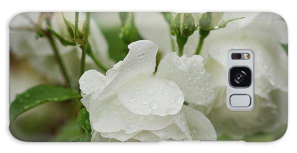 Rain Drops In Our Garden Galaxy Case