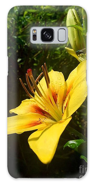 Rain Kissed Tiger Lily Galaxy Case