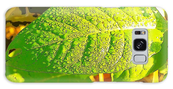 Rain On Leaf Galaxy Case