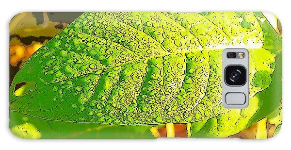 Rain On Leaf Galaxy Case