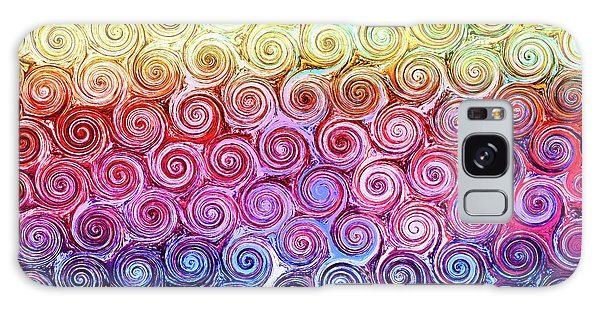 Rainbow Abstract Swirls Galaxy Case