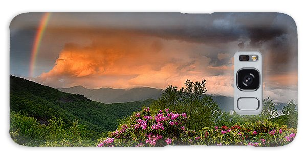 Rainbow And Rhododendrons On The Parkway Galaxy Case