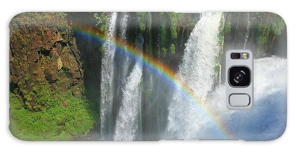 Rainbow At Iguazu Falls Galaxy Case