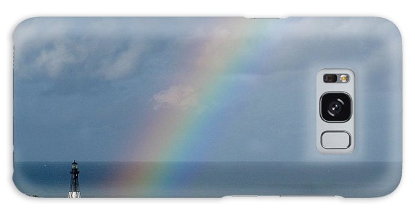 Rainbow At Hillsboro Lighthouse Galaxy Case