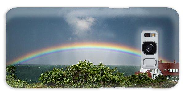 Rainbow At Portland Headlight Galaxy Case