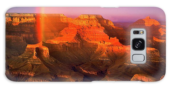 Rainbow At The Grand Canyon Galaxy Case