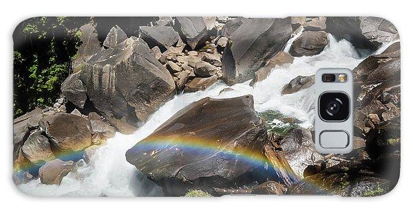 Rainbow At Vernal Falls- Galaxy Case