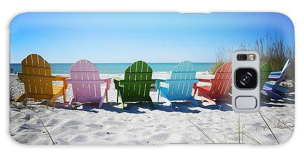 Adirondack Chair Galaxy Case - Rainbow Beach Vanilla Pop by Chris Andruskiewicz