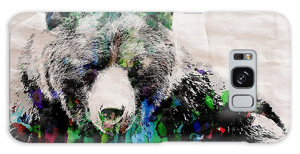 Rainbow Bear Watercolor Print Poster Galaxy Case