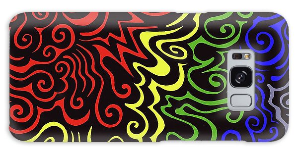 Rainbow Burst Tribal Galaxy Case