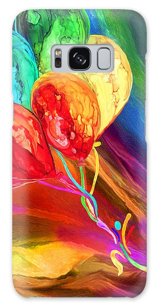 Galaxy Case featuring the mixed media Rainbow Chaser by Carol Cavalaris