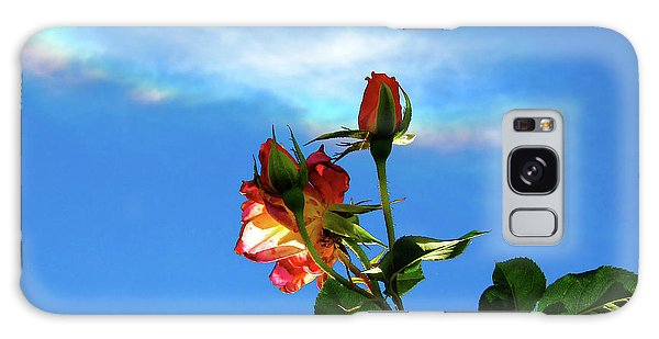 Rainbow Cloud And Sunlit Roses Galaxy Case