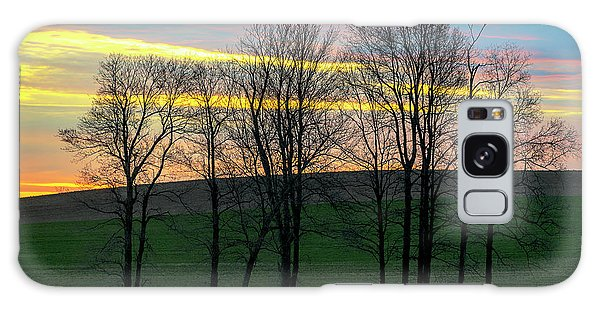 Rainbow Color Tree Horizon Galaxy Case