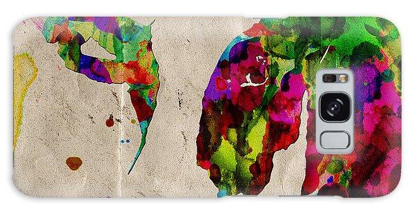 Rainbow Cow Print Poster Galaxy Case