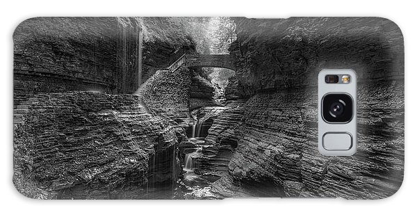 Rainbow Falls Bw Galaxy Case
