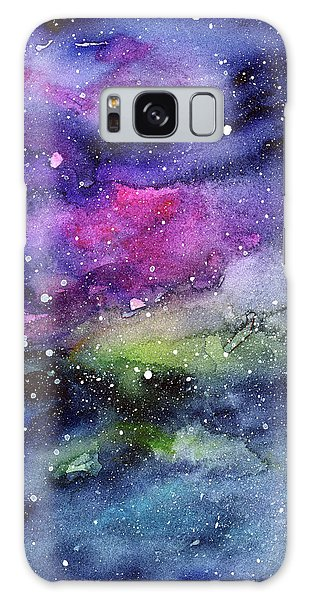Galaxy Galaxy Case - Rainbow Galaxy Watercolor by Olga Shvartsur