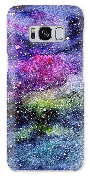 Outer Space Galaxy Case - Rainbow Galaxy Watercolor by Olga Shvartsur