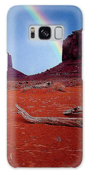 Rainbow In Monument Valley Arizona Galaxy Case