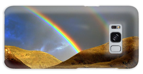Rainbow In Mountains Galaxy Case by Irina Hays