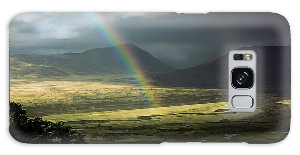 Rainbow In The Valley Galaxy Case by Andrew Matwijec