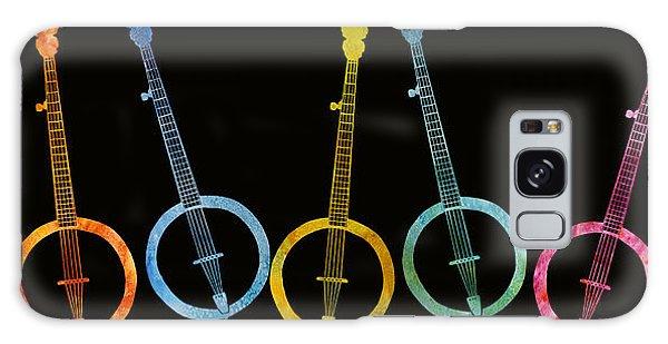 Rainbow Of Banjos Galaxy Case