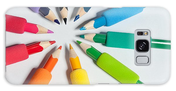 Rainbow Of Crayons Galaxy Case