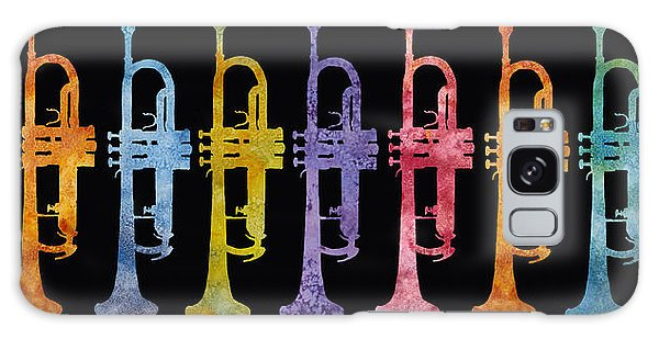 Trumpet Galaxy S8 Case - Rainbow Of Trumpets by Jenny Armitage