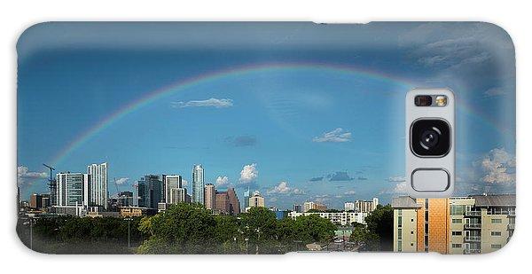 Rainbow Over Austin Galaxy Case