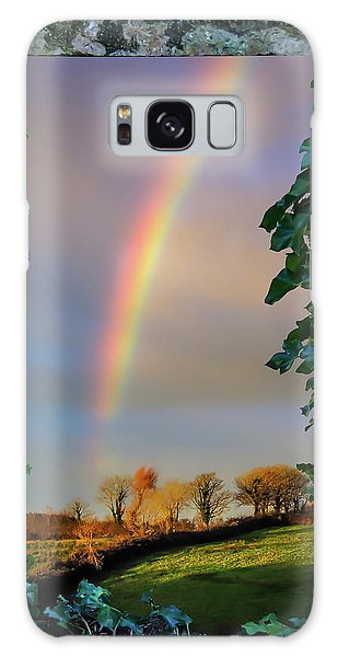 Galaxy Case featuring the photograph Rainbow Over County Clare, Ireland, by James Truett