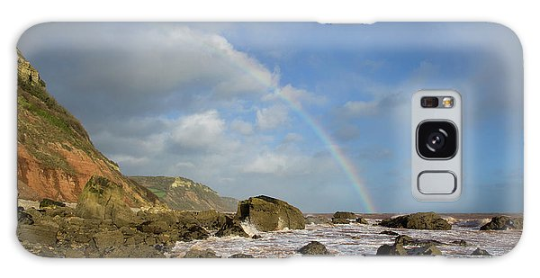 Rainbow Over Dunscombe Cliff Galaxy Case