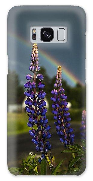 Rainbow Over Lupine  Galaxy Case