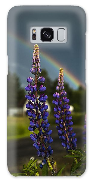 Rainbow Over Lupine  Galaxy Case