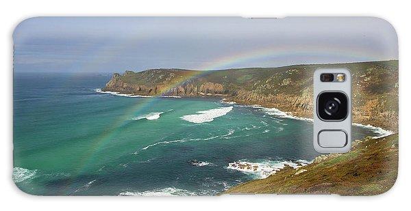 Rainbow Over Nanjizal Bay In Cornwall Galaxy Case
