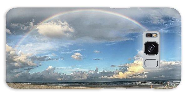 Rainbow Over Ocean Galaxy Case