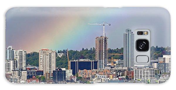 Rainbow Over Seattle Galaxy Case